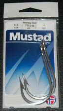 2 Pack Mustad 7732-SS Big Game Stainless Steel Sea Demon Tuna Hooks - Size 9/0