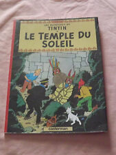 LES AVENTURES DE TINTIN LE TEMPLE DU SOLEIL FRENCH CARTOON BOOK