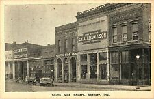 A View of the Shops on the South Side Square, Spencer IN Indiana