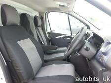 PREMIUM FABRIC GREY BLACK SEAT COVERS TAILORED FOR RENAULT TRAFIC 2014 +