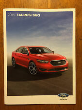 2016 FORD Taurus + SHO sales brochure catalog, 25 pages