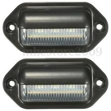 2x 6LED License Plate Tag Light Boat RV Truck Trailer Interior Step Lamp 12-24V