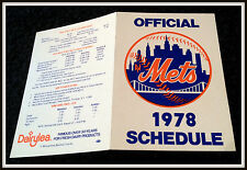 1978 NEW YORK METS DAIRYLEA BASEBALL POCKET SCHEDULE EX+NM CONDITION FREE SHIP