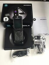 Motorola RAZR V3 - Black Flip (Factory Unlocked) GSM 2G Cellular Phone New