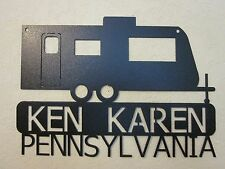 CUSTOM RV NAME AND STATE CAMP TRAILER STYLE (YOUR NAME & STATE) STEEL