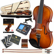 NEW CECILIO 3/4 EBONY FITTED VIOLIN +TUNER+BOOKS