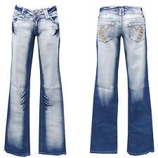 Denim Girls blue jeans w26-gr.32 bootcut pantalones golpe señora Teens chica nº 5
