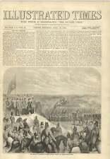 1856 recensione a Aldershot truppe hanno sfilato prima della guerra della Regina NICARAGUENSE