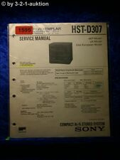 Sony Service Manual HST D307 Component System  (#1595)