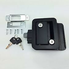 Black RV Paddle Entry Door Lock Latch Handle Knob Deadbolt NEW Camper Trailer