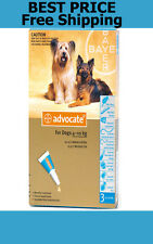 Advocate For Dogs 4-10kg Medium Dogs 3 Pack Flea and Lice Treatment EXP 11/2017