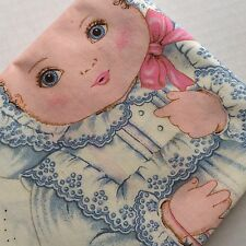 Vtg Cut & Sew Cloth Fabric Panel Doll Rock a Bye Baby Cranston Print Work Pillow