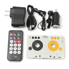 Retro Car Telecontrol Tape Audio Cassette SD MMC MP3 Player Adapter Kit + Remote