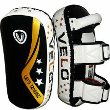 VELO Strike Kick Boxing Pad Focus Thai Punch MMA Shield Pads Muay Curved Bag BLK