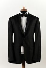 New DOLCE & GABBANA D&G Wool + Silk Texturized Black Suit Tuxedo 2Btn 40US 50EU