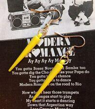 KITSCH 80S STYLE YELLOW PUNK SPIKE EARRINGS