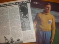 Photo article Wolves FC goalkeeper Bert Williams 1951