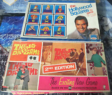 Dating Game and Hollywood Squares Boardgames!Complete!Retro TV  hipster funtimes