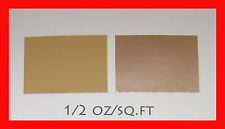 "COPPER FOIL ½ oz/sf  6.5""x9""  0.0007"" thickness 1 sheet (IRREGULAR)"