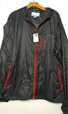 Columbia Men's Agent Air EXS Omni-Shield Wind Shell Jacket Gray/Red XXL $100
