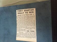 65-8 ephemera 1965 football report Spartan 3 St peters old boys 2 flaig matthews