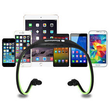Sport Wireless Bluetooth Stereo Headphone Headset Earphone for iOS Android green