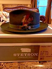 """STETSON """"PLAYBOY"""" SAGE SIZE 7 1/2 RARE FIND GREAT COLOR FEDORA!"""