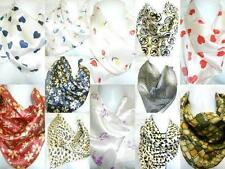PACK OF 30 WHOLESALE JOB LOT OF SATIN NECK SCARFS VARIOUS  21 X 21 NEW