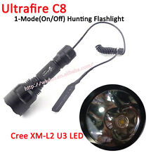 UF C8 CREE XM-L2 U3 1800LM 1M LED Hunting Flashlight with Remote Pressure Switch