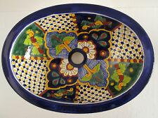 "16"" TALAVERA SINK drop in mexican bathroom sink handmade ceramic mexico folk art"
