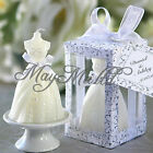 White Beauty Bridal Bride Gown Dress Design Candle Wedding Party Decor Favours Q