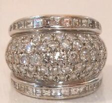 French Art Deco  3.50 carat Diamond Boule 18ct Gold Ring