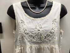 JOURNAL STANDARD BONE COTTON SCOOP NECK EMPIRE WAIST DRESS SIZE NOT NOTED