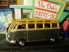 VEE DUB'S Drive-in VOLKSWAGEN SAMBA BUS✰Black/Gold✰LOOSE✰Motor World✰ToysRUs