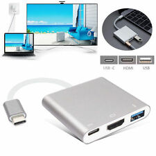 New Type C USB 3.1 to USB-C 4K HDMI USB 3.0 Adapter 3 in 1 Hub For Apple Macbook
