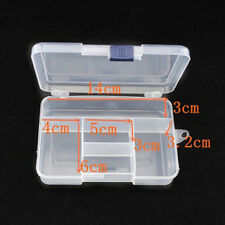 Compact 5 Compartment Plastic Storage Box Jewelry Tool Container NEW