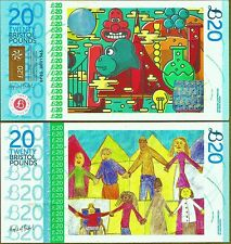 "Angleterre/bristol 20 £ billet ""wallace & grommit"". le royaume-uni le plus coloré note?"