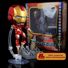 "Nendoroid 284# Avengers Iron Man Mark7 Hero's Edition 4"" Action Figure Gift toy"