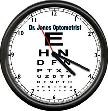 Optometrist Eye Dr Vision Chart Personalized Your Name Gift Sign Wall Clock NEW