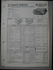 PHILIPS nd372v-01 Autoradio SERVICE MANUAL Edizione 01/58