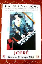 JOFRÉ Hector-Alan  AFFICHE 2005 galerie Vendôme Paris  PIANO MUSICIEN MUSIQUE