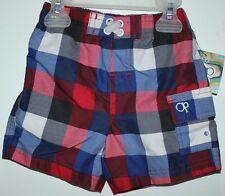 OP SWIMMING BEACH SHORTS FOR KIDS 12 MONTHS CHECKERED NWT