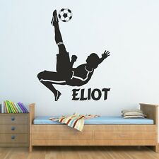 FOOTBALL wall stickers kids bedroom boys footballer sticker personalised vinyl