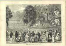 1873 Concert Park Vienna Exhibition Welsh Choir Crystal Palace Albert Bridge