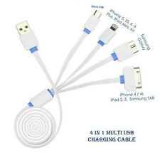 USB 4 in 1 Multi Charger Cable For Samsung, Micromax,Motorola,Apple iPhones etc