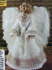 Crochet Pattern Only ~ Barbie's Angel Outfit ~ Gilded Gown & Feather Wings