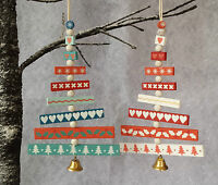 Gisela Graham Sectional Christmas Tree Decoration Vintage Chic with Bell