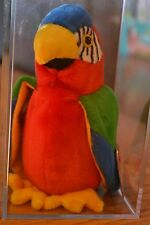TY beanie babies jabber the parrot (NIB) **display box included