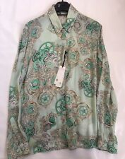 Versace Womens Silk Shirt New With Tags Allover Printed