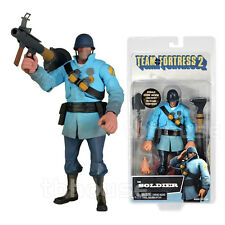 THE SOLDIER figure TEAM FORTRESS 2 blue BLU EDITION neca SERIES 2 w/ BONUS CODE